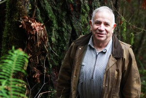 Scott Russell, a forestland owner near Scappoose, is hoping to sell carbon credits from his forestland to help pay his family's future health care bills. (Photo by Enya Chiu)