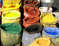 A study found 64 percent of paints purchased in Cameroon had lead concentrations well above U.S. standards. (Photo courtesy Occupational Knowledge International)