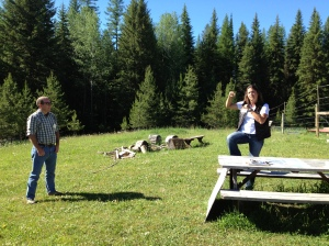 Melanie Parker, executive director of Northwest Connections, talks to the group about grizzlies, loggers, recreation, conservation, and collaboration.