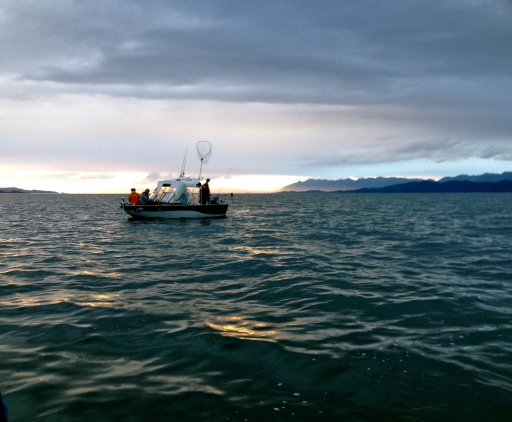 Fishing for trout on Flathead Lake. (IJNR photo)
